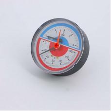 Термоманометр аксиальный с клапаном для монтажа/демонтажа EMMETI 4бар 120 град.C
