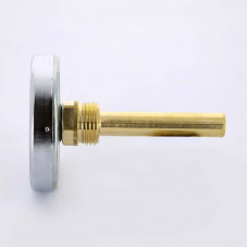 Термометр биметаллический F+R801 63мм с погружной гильзой WATTS Ind 120 град.C гильза 75мм