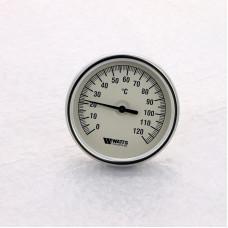 Термометр биметаллический F+R801 80мм с погружной гильзой WATTS Ind 120 град.C гильза 50мм
