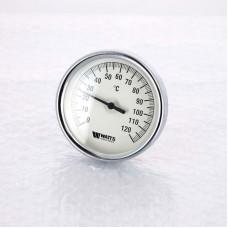 Термометр биметаллический F+R801 80мм с погружной гильзой WATTS Ind 120 град.C гильза 75мм