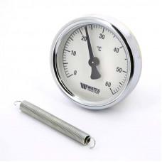 Термометр биметаллический накладной F+R801 TCM 63мм с пружиной WATTS Ind 120 град.C