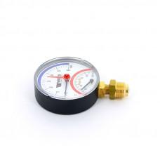 Термоманометр радиальный F+R828 WATTS Ind 6 бар 120 град.C