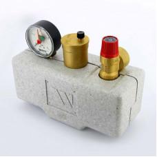 """Группа безопасности котла KSG 30 ISO стальная с теплоизоляцией WATTS Ind 1"""" 3 бар 100 кВт"""