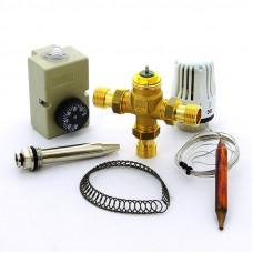 """Клапан зональный трехходовой с термоголовкой, погружным датчиком и контактным термостатом EMMETI 1/2""""Н"""