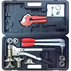 Универсальный комплект механического инструмента PEXEasy (5 насадок: 16, 20, 25 для PEX, 16, 20 для стабильной трубы)