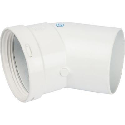 Stout SCA-0080-000045 элемент дымохода отвод 45° п/м Ø80 (групповая упаковка 10 шт)