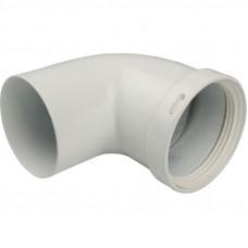 Stout SCA-0080-000090 элемент дымохода отвод 90° п/м Ø80 (групповая упаковка 10 шт)
