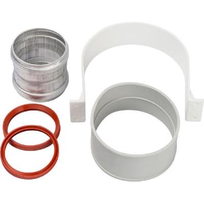 Stout SCA-6010-000002 элемент дымохода для соединеия труб Ø60/100, м/м соед. муфта с уплотнен,хомут с муфтой EPDM в комплекте.(с лого.)