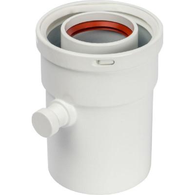 Stout SCA-6010-000101 элемент дымохода конденсатосборник вертик. Ø60/100, п/м уплотнения в компл. с лого