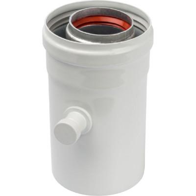 Stout SCA-6010-000102 элемент дымохода конденсатосборник горизонт. Ø60/100, п/м уплотнения в компл. с лого.