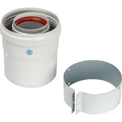 Stout SCA-6010-230100 элемент дымохода Ø60/100 адаптер для котла вертикальный коаксиальный (совместимый с Vaillant, Protherm NEW)(лого)