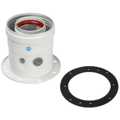 Stout SCA-6010-240100 элемент дымохода Ø60/100 адаптер для котла вертикальный коаксиальный (совместимый с Bosch, Buderus)(лого)