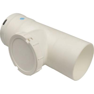 Stout SCA-8080-010210 элемент дымохода конденсац. визуальн инспекция T образн Ø80 п/м PP-FE