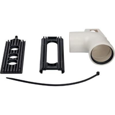 Stout SCA-8080-121090 элемент дымохода конденсац.угол 87° Ø80 м/п PP-FE с кронштейном