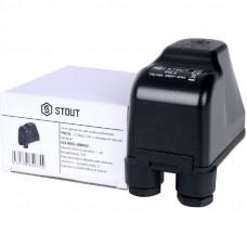 """Stout SCS-0001-000005 Реле давления для водоснабжения PM5G, 1-5 бар, 1/4"""", с накидной гайкой."""