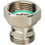 Разъемное соединение с плоским уплотнением никелированное Stout