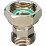 Разъемное соединение с плоским уплотнением и обратным клапаном никелированное Stout