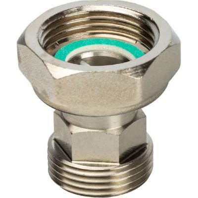 """Stout SDG-0019-020025 Разъемное соединение с плоским уплотнением и обратным клапаном, никелированное 1"""""""