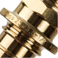 """Stout SFA-0001-002512 Переходник с наружной резьбой 25xR 1/2"""" для труб из сшитого полиэтилена аксиальный"""