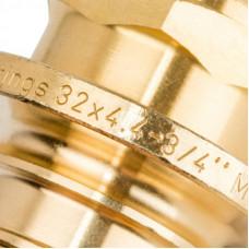 """Stout SFA-0001-003234 Переходник с наружной резьбой 32xR 3/4"""" для труб из сшитого полиэтилена аксиальный"""