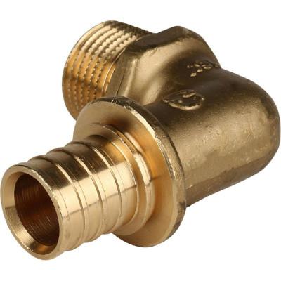 """Stout SFA-0005-002012 Угольник-переходник с наружной резьбой 20xR 1/2"""" для труб из сшитого полиэтилена аксиальный"""