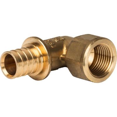 """Stout SFA-0006-002012 Угольник-переходник с внутренней резьбой 20xRp 1/2"""" для труб из сшитого полиэтилена аксиальный"""