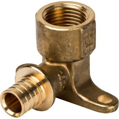 """Stout SFA-0009-001612 Угольник настенный с креплением 16xRp 1/2"""" для труб из сшитого полиэтилена аксиальный"""