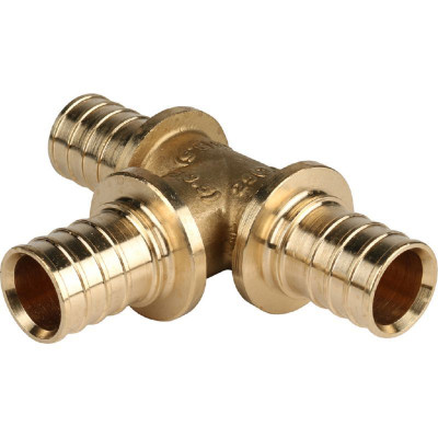 Stout SFA-0013-000025 Тройник равнопроходный 25x25x25 для труб из сшитого полиэтилена аксиальный