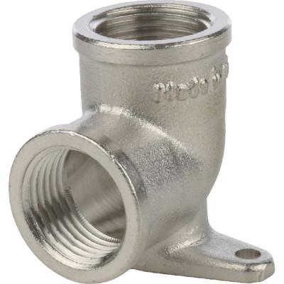 """Stout SFT-0039-000012 Угольник с креплением внутренняя резьба никелированный 1/2"""""""
