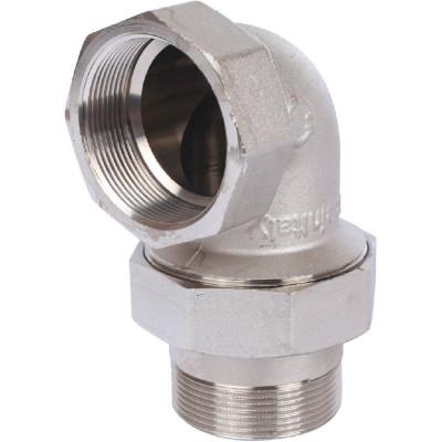 """Stout SFT-0057-000002 Разъемное угловое соединение """"американка"""" ВН, уплотнение под гайкой o-ring кольцо, никелированное 2"""""""