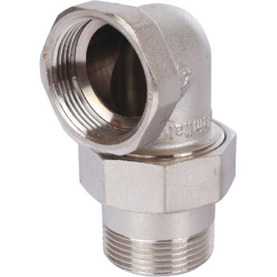 """Stout SFT-0057-000114 Разъемное угловое соединение """"американка"""" ВН, уплотнение под гайкой o-ring кольцо, никелированное 1""""1/4"""