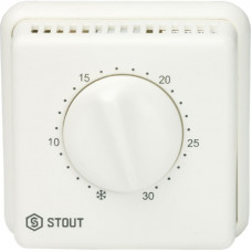 Stout STE-0001-000001 Комнатный проводные термостаты BELUX TI-N с переключателем зима-лето и светодиодом