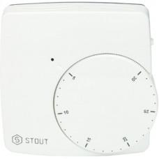 Stout STE-0002-000010 Термостат комнатный электронный WFHT-DUAL включ. дистанционный датчик «в пол» L=3 м
