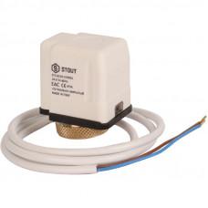 Stout STE-0010-024001 Электротермический компактный сервопривод, нормально закрытый, 24 В