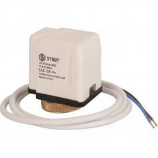 Stout STE-0010-024002 Электротермический компактный сервопривод, нормально открытый, 24 В