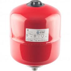 Stout STH-0004-000008 Мембранные расширительные баки для систем отопления с диафрагмой 8 л. (цвет красный)