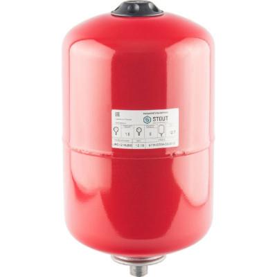 Stout STH-0004-000012 Мембранные расширительные баки для систем отопления с диафрагмой 12 л. (цвет красный)
