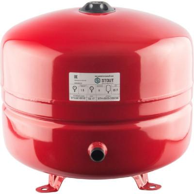 Stout STH-0005-000035 Мембранные расширительные баки для систем отопления с диафрагмой 35 л. (цвет красный)