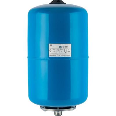 Stout STW-0001-000020 Мембранный расширительный бак (гидроаккумулятор вертикальный) для систем водоснабжения 20 л. (цвет синий)