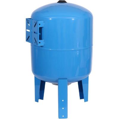 Stout STW-0002-000080 Мембранный расширительный бак (гидроаккумулятор вертикальный) для систем водоснабжения 80 л. (цвет синий)