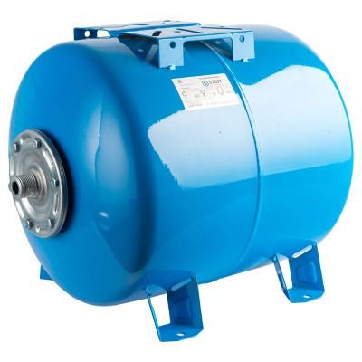 Stout STW-0003-000050 Мембранный расширительный бак (гидроаккумулятор горизонтальный) для систем водоснабжения 50 л. (цвет синий)