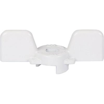 """Stout SVB-BUT-1234-01 Ручка бабочка для полнопроходных шаровых кранов, белая 1/2"""" и 3/4"""""""