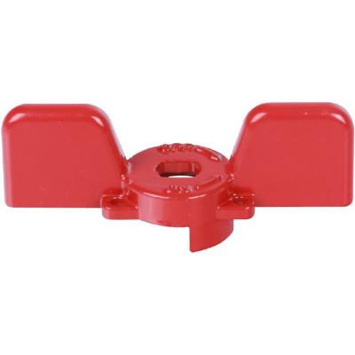 """Stout SVB-BUT-1234-02 Ручка бабочка для полнопроходных шаровых кранов, красная 1/2"""" и 3/4"""""""