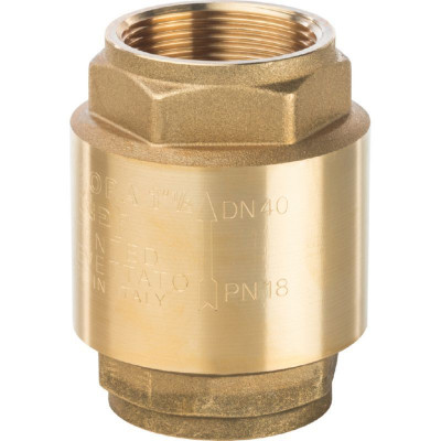 """Stout SVC-0001-000040 Клапан обратный пружинный с металлическим седлом 1 1/2"""""""