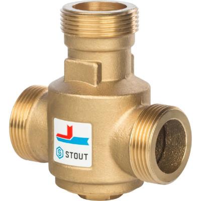 """Stout SVM-0030-325508 Термостатический смесительный клапан G 1"""" 1/4 НР 70°С для твердотопливных котлов"""