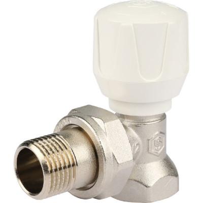 """Stout SVR 2102 000015 Клапан ручной с закрытием затвора """"металл по металлу"""", угловой 1/2"""""""