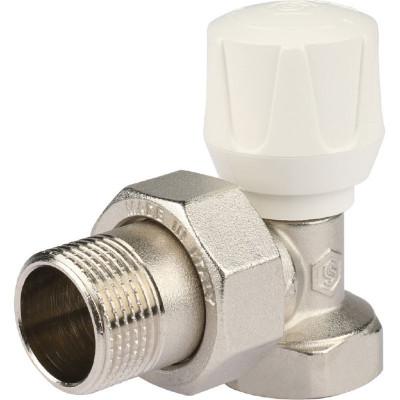 """Stout SVR 2102 000020 Клапан ручной с закрытием затвора """"металл по металлу"""", угловой 3/4"""""""