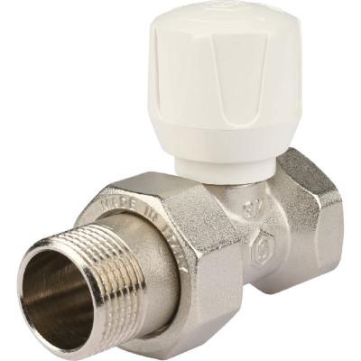 """Stout SVR 2122 000020 Клапан ручной с закрытием затвора """"металл по металлу"""", прямой 3/4"""""""