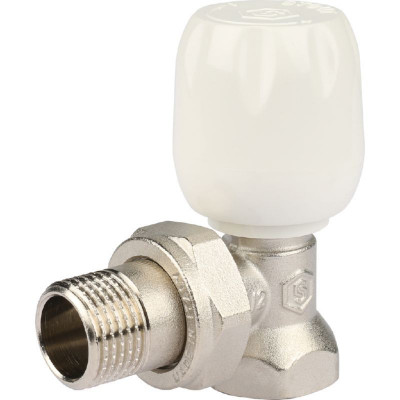 """Stout SVRS 1152 000015 Клапан ручной с неподъемным шпинделем, угловой 1/2"""""""