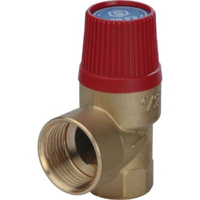 """Stout SVS-0001-002515 Клапан предохранительный 25 x 1/2"""" SVH для систем отопления (красная крышка)"""